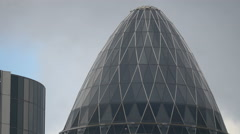 The top of 30 St Mary Axe in London Stock Footage