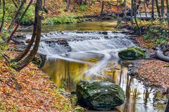 Deer Lick Creek Waterfall - stock photo