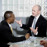 Two businessmen arguing Stock Photos