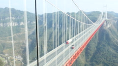 Aizhai Bridge panorama Stock Footage