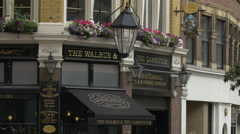 The Walrus & Carpenter in London Stock Footage