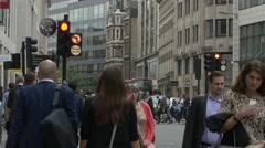 Walking on Gracechurch St in London Stock Footage