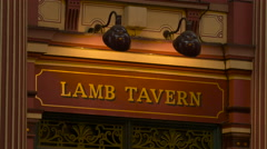 Lamb Tavern in Leadenhall Market in London - stock footage