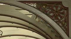 Decoration on the Leadenhall Market arch in London - stock footage