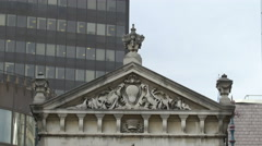 Leadenhall Market's frieze in London Stock Footage