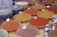 Spice stall, Place des Precheurs, Aix-en-Provence Stock Photos
