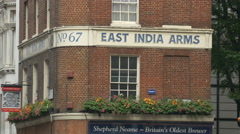 East India Arms - Shepherd Neame pub in London Stock Footage