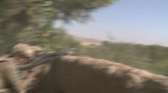 War in Afghanistan - Mortar blast on enemy location - stock footage