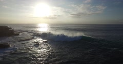 Waves Breaking  at Sunrise off Ben Buckler Point Bondi Beach Stock Footage