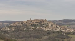 Cordes-sur-Ciel during the daytime Stock Footage