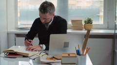 Handling Papers - stock footage