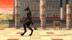 Anubis goes, Egypt, temple, animation Stock Footage