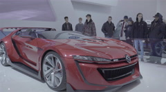 Volkswagen GTi Roadster Concept. Toronto International Auto Show - stock footage