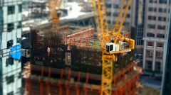San Francisco: Construction Tilt Shift Stock Footage