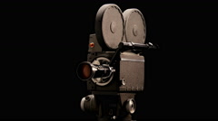 Vintage Hollywood Movie Camera - stock footage