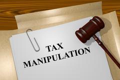 Tax Manipulation concept - stock illustration