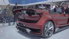 Volkswagen GTi Roadster Concept. Toronto International Auto Show. - stock footage