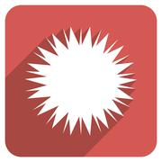 Microbe Spore Flat Rounded Square Icon with Long Shadow - stock illustration