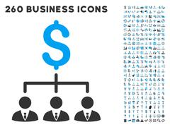 Banker Links Icon with Flat Vector Set Stock Illustration
