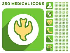 Falling Soul Icon and Medical Longshadow Icon Set Stock Illustration
