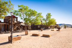General view of the Pioneer town street - stock photo