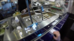 Servers in mexican restaurant Stock Footage