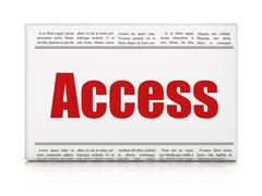 Privacy concept: newspaper headline Access Stock Illustration