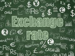 Stock Illustration of Currency concept: Exchange Rate on School Board background