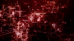 Stock Video Footage of Red abstract futuristic technology background