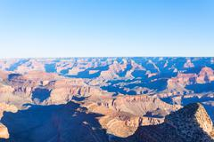 Long perspective photo of the Grand Canyon - stock photo
