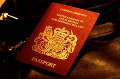 British passport - stock photo