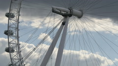 London Eye's spokes in London Stock Footage