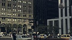 New York 1982: traffic in Manhattan - stock footage