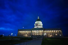 Night view, Utah Capitol building, Salt Lake City - stock photo