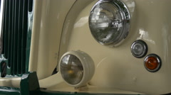 Close up view of a vintage car in London Stock Footage
