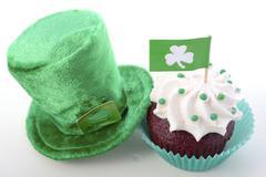 St Patricks Day Cupcakes - stock photo