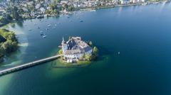 Gmunden In Austria, Schloss Orth am Traunsee Stock Photos