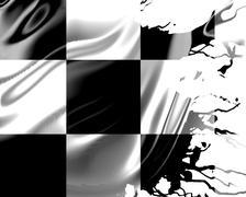 Flowing racing flag - stock illustration
