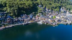Hallstatt village in Alps, Austria - stock photo