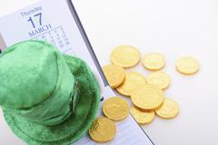 St Patricks Day calendar date. - stock photo