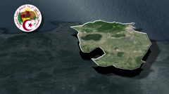 Annaba with Coat of arms animation map Stock Footage