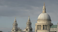 St Paul's Cathedral with dome and towers in London Stock Footage