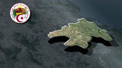 Mila with Coat of arms animation map Stock Footage