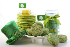 St Patricks Day green party food. - stock photo