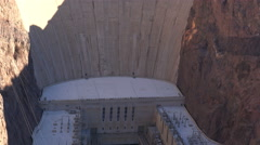 Hoover dam landscape, view from the bridge - Nevada, tilt footage - stock footage