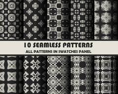 Vector set of geometric patterns for design Stock Illustration