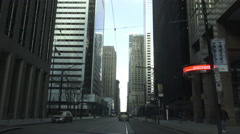 Driving through Toronto's downtown Financial Business District, Canada - stock footage