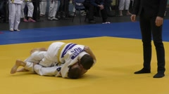 Competitions in Judo Stock Footage