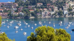 Time Lapse of Villefranche-sur-Mer Stock Footage