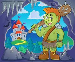 Orc theme image - eps10 vector illustration. - stock illustration
